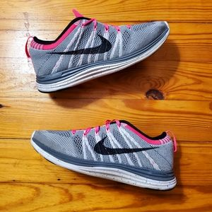Rare Nike Flyknit One Lunarlon Gray Punch Sneakers